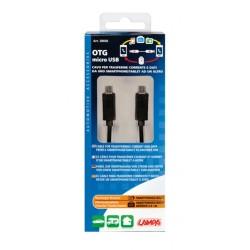 CABLE TRANSFERT DONNEES OTG 2X MICRO USB