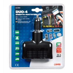 DOUBLE PRISE DUO 4 12/24V USB