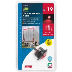 FEU A LED ENCASTRABLE ROUGE 12/24V