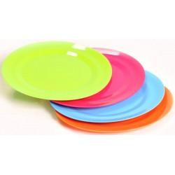 SET DE 4 ASSIETTES PLATES PLASTIQUES