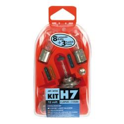 COFFRET H7 8 AMPOULES/3 FUSIBLES