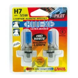 AMPOULES X2 H7 12V 55W  BLEU-XE