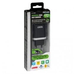 CHARGEUR SECTEUR AVEC 2 PORTS USB - 3100mA - 230 V