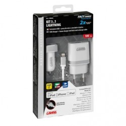 KIT POUR IPHONE 5/6 AC 12/24 V / 220 V + CABLE
