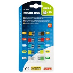 CARTE MICRO FUSIBLES ENFICHABLES ASSORTIS