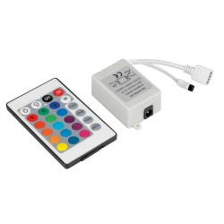CONTROLEUR BANDE LED RGB AVEC TELECOMMANDE 12V