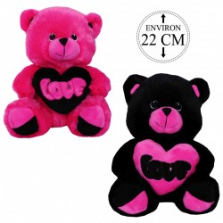 PELUCHE OURS LOVE 22CM