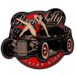 STICKER 3D GM PIN-UP ROCKABILLY