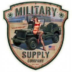 STICKER 3D GM PIN-UP MILITARY