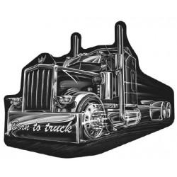 STICKER 3D GM CAMION NOIR BORN TO TRUCK