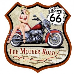 STICKER 3D GM ROUTE 66 THE MOTHER ROAD