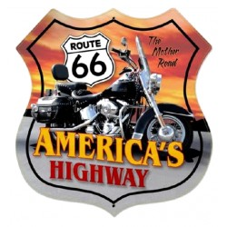 STICKER 3D GM ROUTE 66 AMERICA'S HIGHWAY