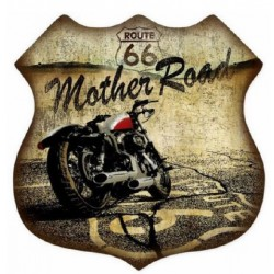 STICKER 3D GM ROUTE 66 MOTO MOTHER ROAD