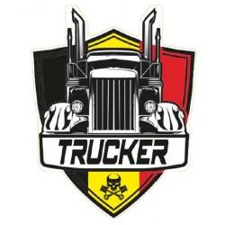 STICKER 3D GM TRUCKER BELGIQUE
