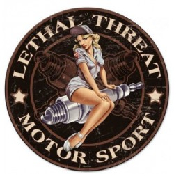 STICKER 3D PM PIN-UP BOUGIE MOTOR SPORT