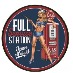 STICKER 3D GM FULL SERVICE STATION PIN-UP