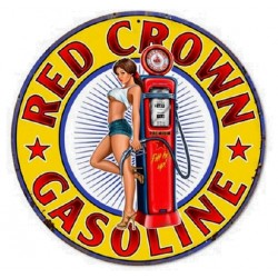 STICKER 3D GM PIN-UP RED CROWN GASOLINE