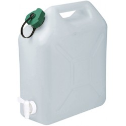 JERRICAN ALIMENTAIRE EXTRA FORT, BOUCHON SIMPLE, ROBINET 10L