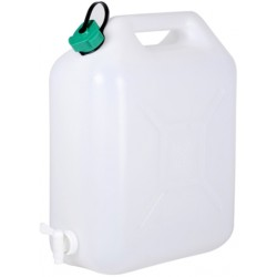JERRICAN ALIMENTAIRE EXTRA FORT, BOUCHON SIMPLE, ROBINET 15L