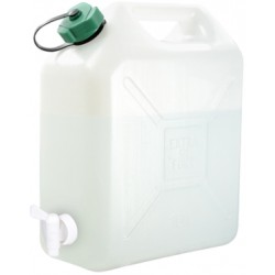 JERRICAN ALIMENTAIRE EXTRA FORT, BOUCHON SIMPLE, ROBINET 20L