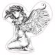 STICKER 3D PM PIN-UP ANGEL