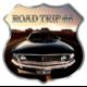 STICKER 3D PM ROAD TRIP 66 VOITURE NOIR