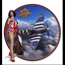 STICKER 3D PM PIN-UP UK SPITFIRE