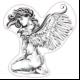 STICKER 3D GM PIN-UP ANGEL