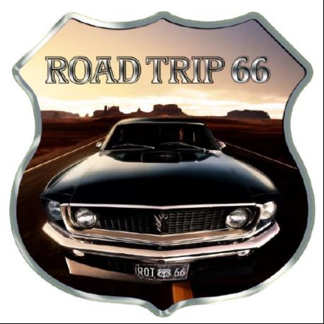 STICKER 3D GM ROAD TRIP 66 VOITURE NOIR