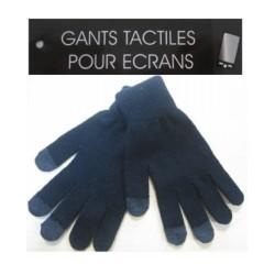 GANT EXTENSIBLE ACRYLIQUE BICOLORE AVEC 3 DOIGTS TACTILES 23CM