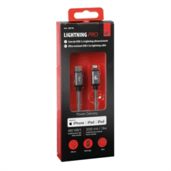 CABLE USB TYPE C  LIGHTNING 100CM ULTRA RESISTANT