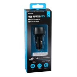 CHARGEUR DOUBLE PRISE (USB A + USB C) 12/24V 36W