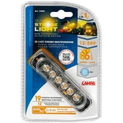 FEU STROBOSCOPIQUE MULTI FONCTION 6LEDS 12/24V ORANGE