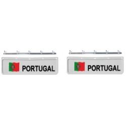 BAVETTE 18X60.FIX. PORTUGAL BLANCHE/NOIRE