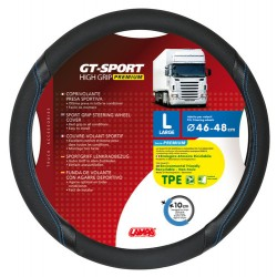 COUVRE VOLANT GT SPORT 46/48 N/B