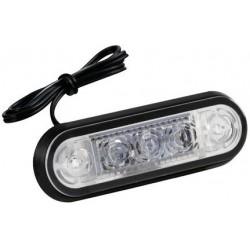FEU A 3 LED ENCASTRABLE 24V ROUGE
