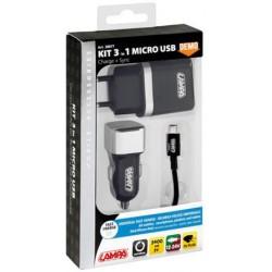 KIT 3 EN 1 MICRO USB 12/24 V + 230 V