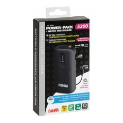 POWER PACK 5200 CHARGE RAPIDE AVEC CABLE RETRACTABLE MICRO USB