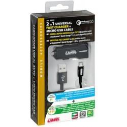 KIT 2 EN 1 MICRO USB 12/24 V