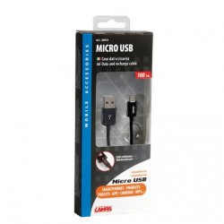 CABLE CHARGE USB VERS MICRO USB, 100 CM